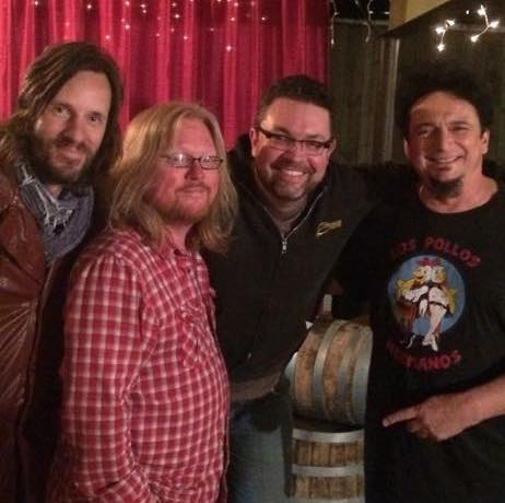 "(L-R) Chris Taylor, Derri Daugherty, JJT, Michael Roe, after their recent East Nashville ""Misery Loves Company"" tour stop."